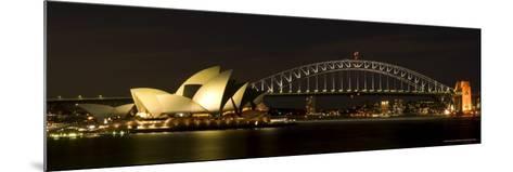 Harbour Sydney, Opera and Harbour Bridge in Sydney, New South Wales, Sydney, Australia-Thorsten Milse-Mounted Photographic Print