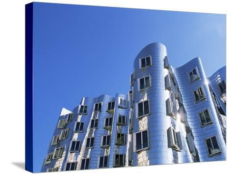 The Neuer Zollhof Building by Frank Gehry, Nord Rhine-Westphalia, Germany-Yadid Levy-Stretched Canvas Print