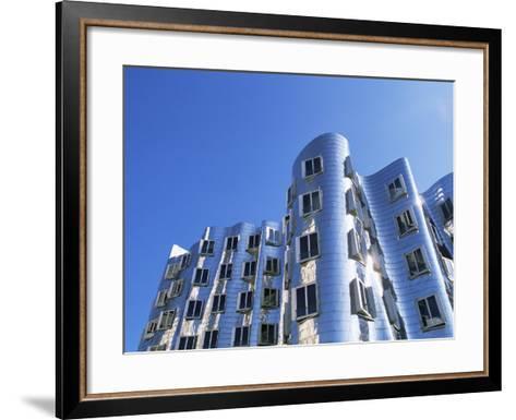 The Neuer Zollhof Building by Frank Gehry, Nord Rhine-Westphalia, Germany-Yadid Levy-Framed Art Print