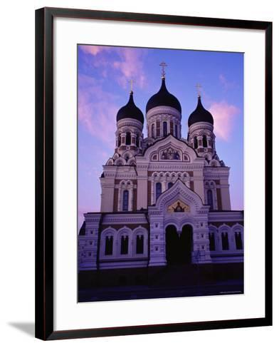 The Russian Orthodox Alexander Nevsky Cathedral in Toompea, Estonia, Baltic States-Yadid Levy-Framed Art Print