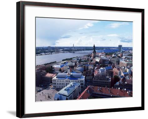 View of the Old Town and the Daugava River, from St. Peter Church, Riga, Latvia, Baltic States-Yadid Levy-Framed Art Print