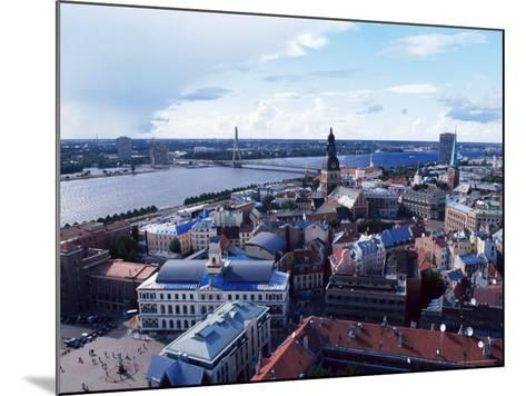 View of the Old Town and the Daugava River, from St. Peter Church, Riga, Latvia, Baltic States-Yadid Levy-Mounted Photographic Print