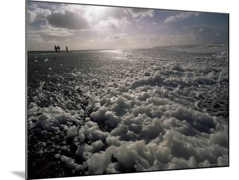 Foam off the Pacific Ocean on Coast Near Westport, Washington State, North America-Aaron McCoy-Mounted Photographic Print