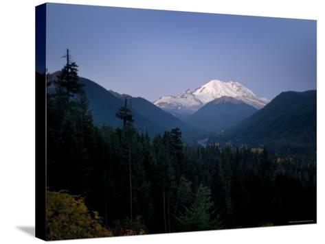 Mt. Rainier at Dawn, Washington State, USA-Aaron McCoy-Stretched Canvas Print