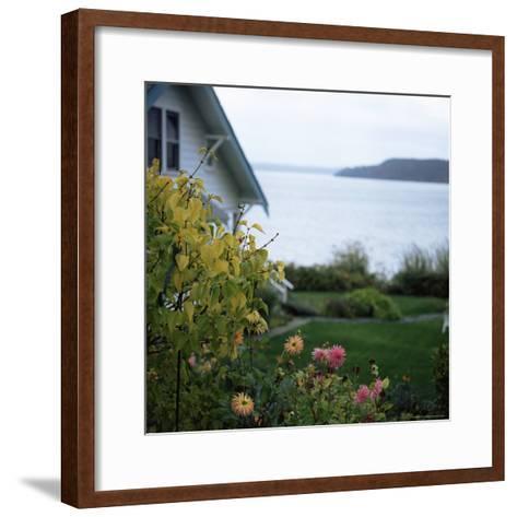 View of Puget Sound, Vashon Island, Washington State, USA-Aaron McCoy-Framed Art Print