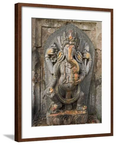 Ganesh Stone Statue, Son of Shiva and Parvati.-Don Smith-Framed Art Print