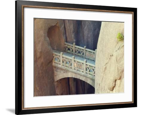 Walking Fairyland Bridge, White Cloud Scenic Area, Huang Shan, Anhui Province, China-Jochen Schlenker-Framed Art Print