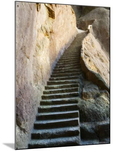 Rock Cut Steps on Stairway, White Cloud Scenic Area, Huang Shan, Anhui Province, China-Jochen Schlenker-Mounted Photographic Print