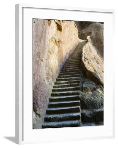 Rock Cut Steps on Stairway, White Cloud Scenic Area, Huang Shan, Anhui Province, China-Jochen Schlenker-Framed Art Print