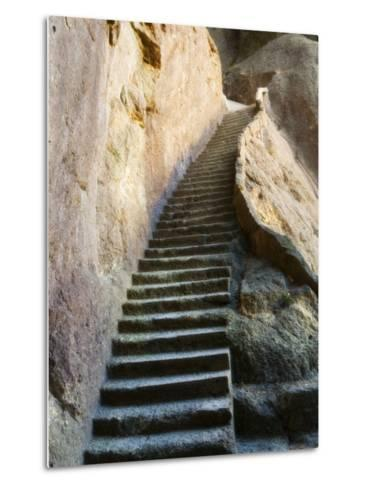 Rock Cut Steps on Stairway, White Cloud Scenic Area, Huang Shan, Anhui Province, China-Jochen Schlenker-Metal Print