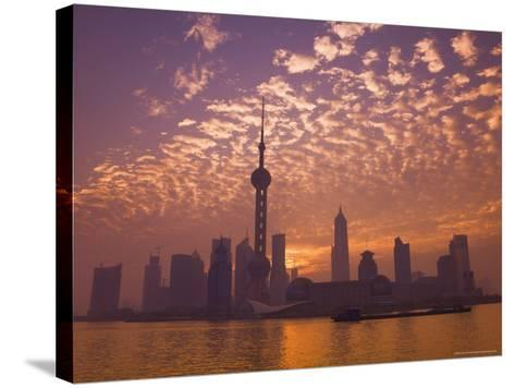 Lujiazui Finance and Trade Zone, with Oriental Pearl Tower, and Huangpu River, Shanghai, China-Jochen Schlenker-Stretched Canvas Print