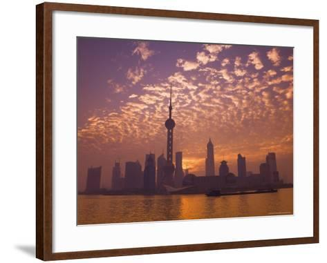 Lujiazui Finance and Trade Zone, with Oriental Pearl Tower, and Huangpu River, Shanghai, China-Jochen Schlenker-Framed Art Print