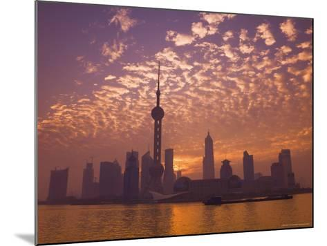 Lujiazui Finance and Trade Zone, with Oriental Pearl Tower, and Huangpu River, Shanghai, China-Jochen Schlenker-Mounted Photographic Print