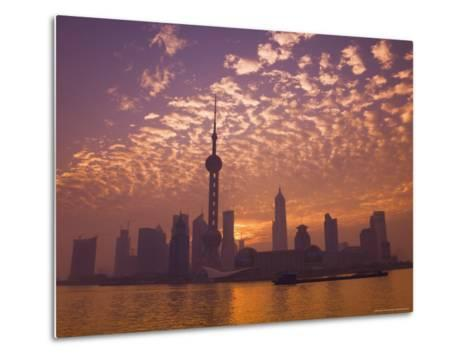 Lujiazui Finance and Trade Zone, with Oriental Pearl Tower, and Huangpu River, Shanghai, China-Jochen Schlenker-Metal Print