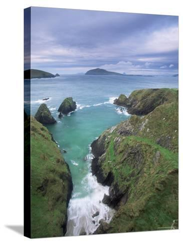 Coast at Slea Head and the Blasket Islands, County Kerry, Munster, Eire-Colin Brynn-Stretched Canvas Print