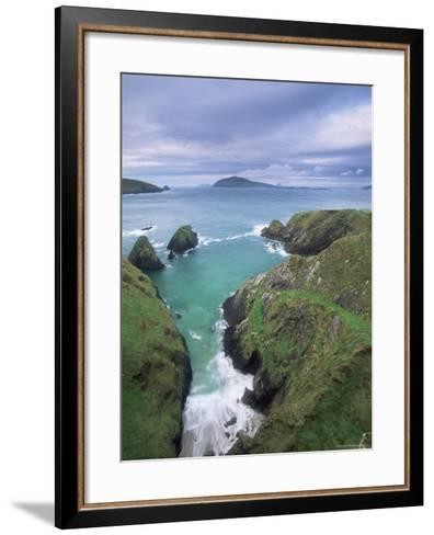 Coast at Slea Head and the Blasket Islands, County Kerry, Munster, Eire-Colin Brynn-Framed Art Print