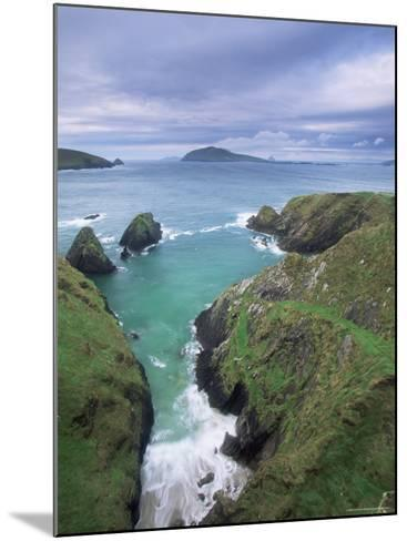 Coast at Slea Head and the Blasket Islands, County Kerry, Munster, Eire-Colin Brynn-Mounted Photographic Print