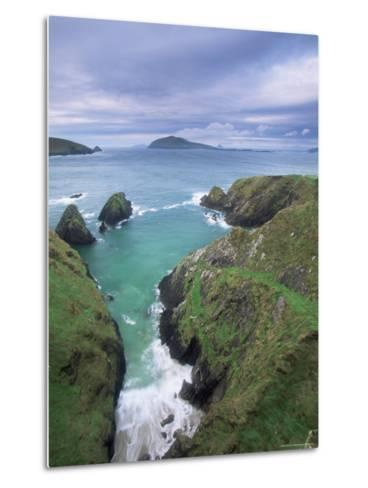 Coast at Slea Head and the Blasket Islands, County Kerry, Munster, Eire-Colin Brynn-Metal Print
