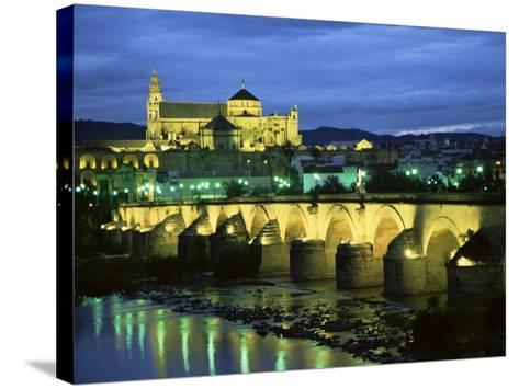 Mezquita (Cathedral) and Puente Romano (Roman Bridge), Cordoba, Andalucia (Andalusia), Spain-Colin Brynn-Stretched Canvas Print
