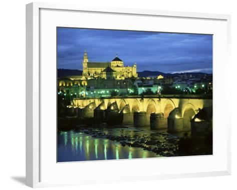 Mezquita (Cathedral) and Puente Romano (Roman Bridge), Cordoba, Andalucia (Andalusia), Spain-Colin Brynn-Framed Art Print