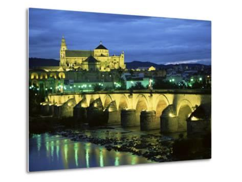 Mezquita (Cathedral) and Puente Romano (Roman Bridge), Cordoba, Andalucia (Andalusia), Spain-Colin Brynn-Metal Print