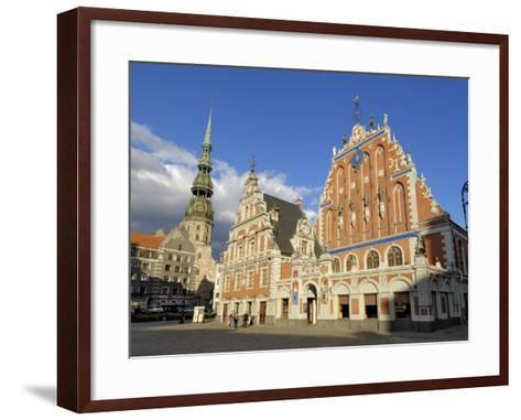 House of the Blackheads, Town Hall Square, Riga, Latvia, Baltic States-Gary Cook-Framed Art Print