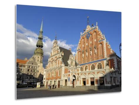 House of the Blackheads, Town Hall Square, Riga, Latvia, Baltic States-Gary Cook-Metal Print