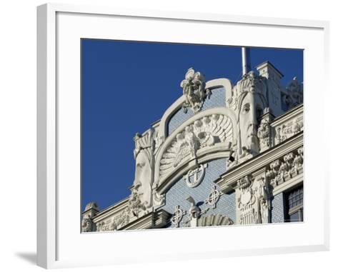 Art Nouveau Architecture, 10B Elizabetes Iela, Designed by Mikhail Eisenstein, Riga, Latvia-Gary Cook-Framed Art Print