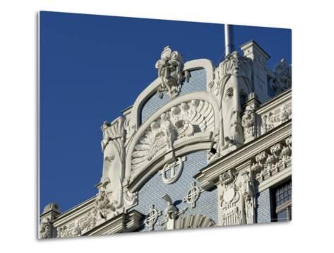 Art Nouveau Architecture, 10B Elizabetes Iela, Designed by Mikhail Eisenstein, Riga, Latvia-Gary Cook-Metal Print