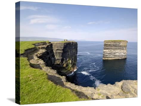 Sea Stack at Downpatrick Head, Near Ballycastle, County Mayo, Connacht, Republic of Ireland (Eire)-Gary Cook-Stretched Canvas Print