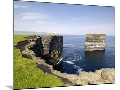 Sea Stack at Downpatrick Head, Near Ballycastle, County Mayo, Connacht, Republic of Ireland (Eire)-Gary Cook-Mounted Photographic Print
