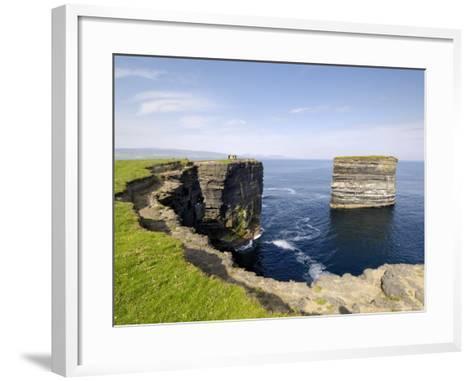 Sea Stack at Downpatrick Head, Near Ballycastle, County Mayo, Connacht, Republic of Ireland (Eire)-Gary Cook-Framed Art Print