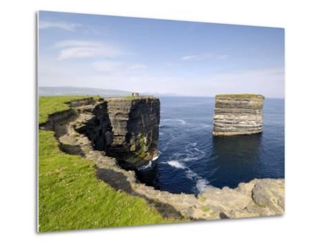 Sea Stack at Downpatrick Head, Near Ballycastle, County Mayo, Connacht, Republic of Ireland (Eire)-Gary Cook-Metal Print