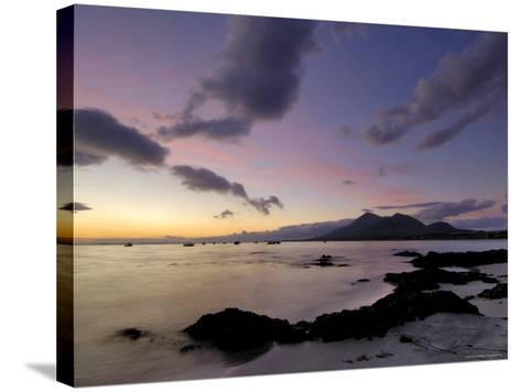 Dawn Over Clew Bay and Croagh Patrick Mountain, Connacht, Republic of Ireland (Eire)-Gary Cook-Stretched Canvas Print