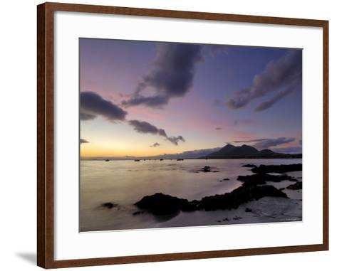 Dawn Over Clew Bay and Croagh Patrick Mountain, Connacht, Republic of Ireland (Eire)-Gary Cook-Framed Art Print