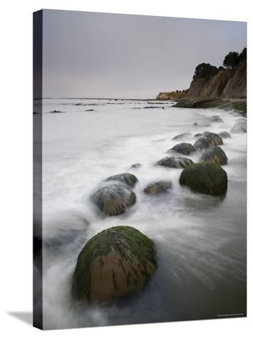 Boulders, Known as Bowling Balls, in the Surf, California, USA-James Hager-Stretched Canvas Print