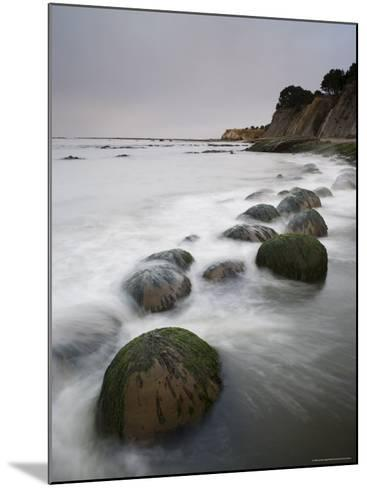 Boulders, Known as Bowling Balls, in the Surf, California, USA-James Hager-Mounted Photographic Print