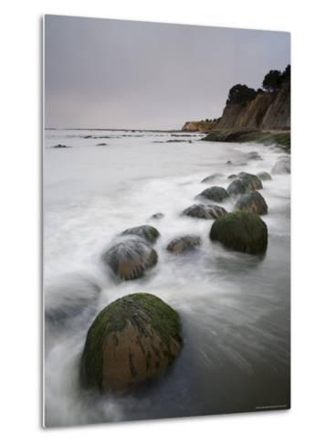 Boulders, Known as Bowling Balls, in the Surf, California, USA-James Hager-Metal Print