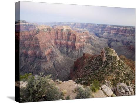 The View to the Southeast from Point Sublime after Sunset, Arizona, USA-James Hager-Stretched Canvas Print