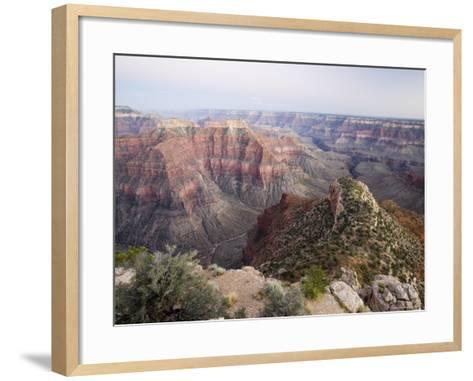 The View to the Southeast from Point Sublime after Sunset, Arizona, USA-James Hager-Framed Art Print
