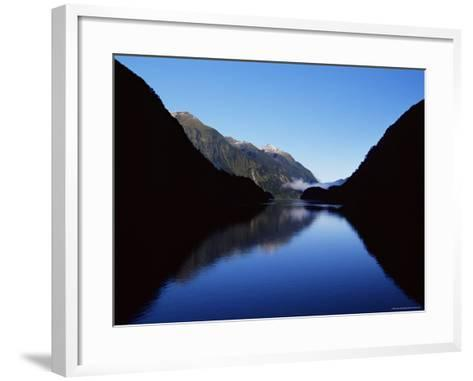 Doubtful Sound, Fiordland National Park, Unesco World Heritage Site, South Island, New Zealand-James Hager-Framed Art Print