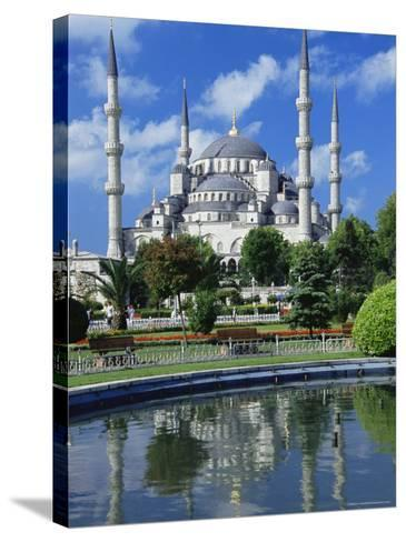 The Blue Mosque (Sultan Ahmet Mosque), Unesco World Heritage Site, Istanbul, Europe, Eurasia-Nico Tondini-Stretched Canvas Print