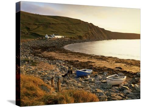 Boats at Nor Wick on the Northeast Tip of the Island, Scotland, United Kingdom-Patrick Dieudonne-Stretched Canvas Print