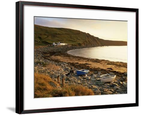 Boats at Nor Wick on the Northeast Tip of the Island, Scotland, United Kingdom-Patrick Dieudonne-Framed Art Print