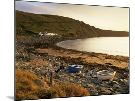 Boats at Nor Wick on the Northeast Tip of the Island, Scotland, United Kingdom-Patrick Dieudonne-Mounted Photographic Print