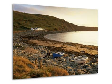 Boats at Nor Wick on the Northeast Tip of the Island, Scotland, United Kingdom-Patrick Dieudonne-Metal Print