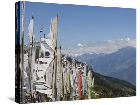 From Cheli La Pass of Bhutan's Most Sacred Mountain, Mount Jhomolhari, 7314M, Himalayas, Bhutan-Angelo Cavalli-Stretched Canvas Print