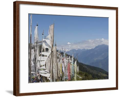 From Cheli La Pass of Bhutan's Most Sacred Mountain, Mount Jhomolhari, 7314M, Himalayas, Bhutan-Angelo Cavalli-Framed Art Print