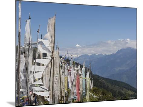 From Cheli La Pass of Bhutan's Most Sacred Mountain, Mount Jhomolhari, 7314M, Himalayas, Bhutan-Angelo Cavalli-Mounted Photographic Print