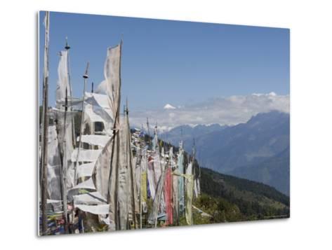 From Cheli La Pass of Bhutan's Most Sacred Mountain, Mount Jhomolhari, 7314M, Himalayas, Bhutan-Angelo Cavalli-Metal Print